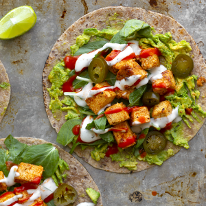 Chipotle Maple Tofu Tacos