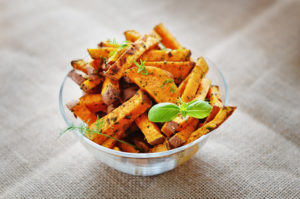 Fries Potato Fries Green vegetables