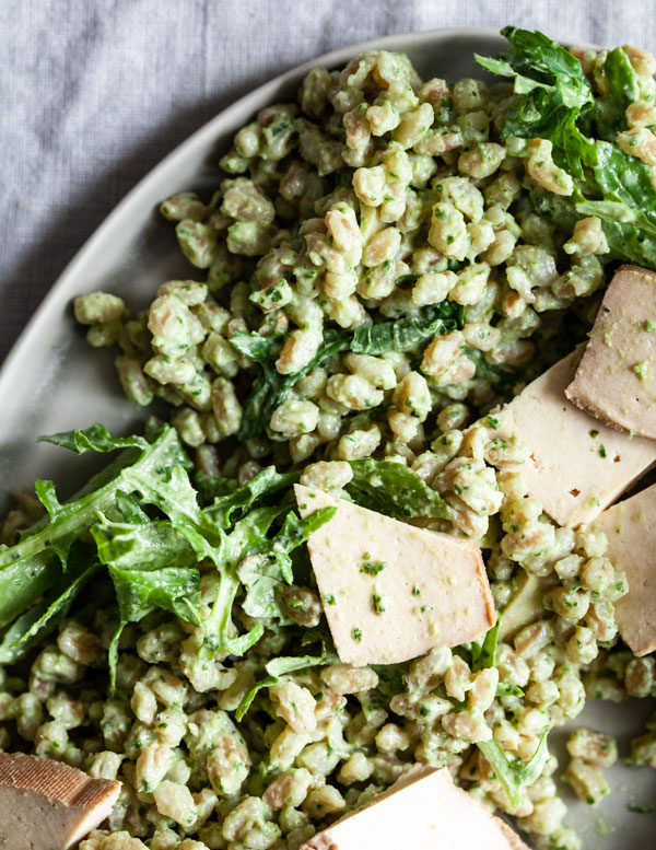 Pesto Farro & Baby Kale Salad | Further Assistance