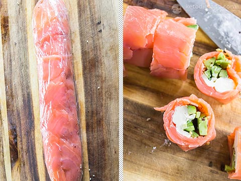 Save Sushi Free Salmon Roll-Ups