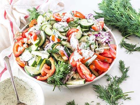 Easy Low-Carb Veggie Ranch Salad