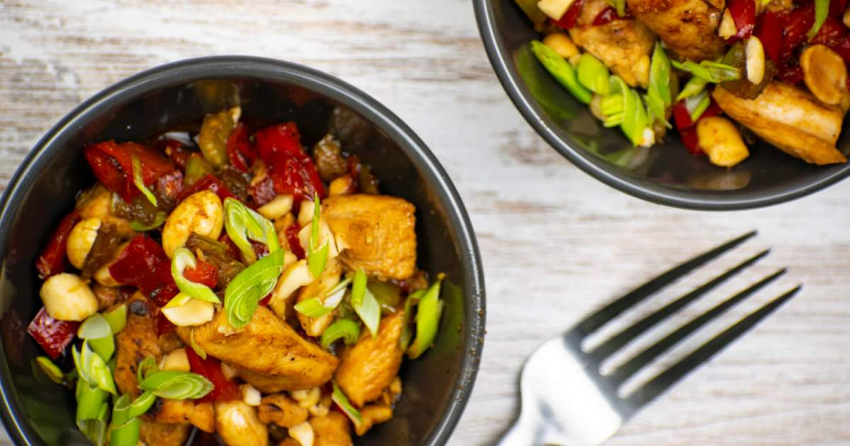 Lower Carb and Paleo Kung Pao Chicken