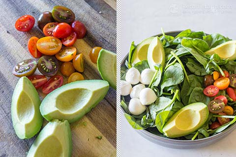 -Add Carb Caprese Chicken Bowls