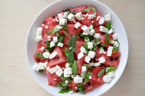feta salad watermelon