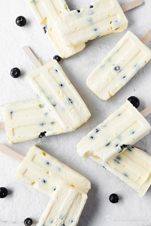 Super Watermelon Keto Vanilla & Berry Popsicles