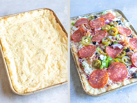 Year-Carb Sheet Pan Pepperoni Pizza