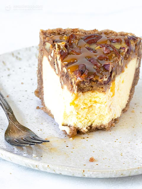Cheesecake low-Carb Pecan Pie