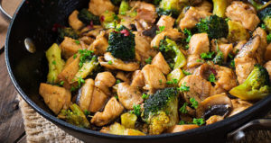 One Chicken Fried Chicken and Broccoli Stir-Fry at One Place