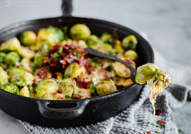 Low-Carb Brussels Sprouts Casserole | KetoDiet Blog