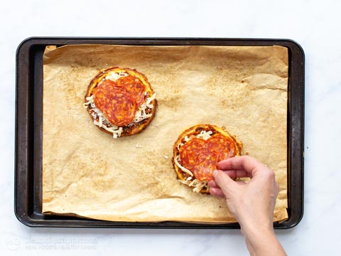The Best Keto Pepperoni Pizza Chaffles