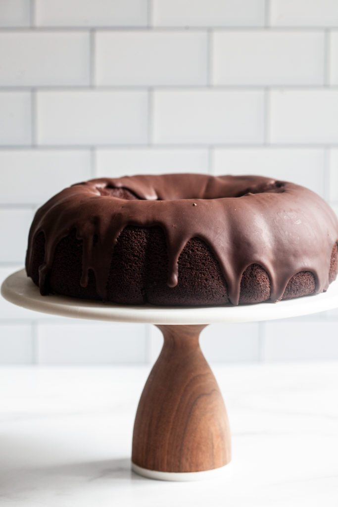 Cake Chocolate Bundt Cake with Chocolate Ganache Glaze